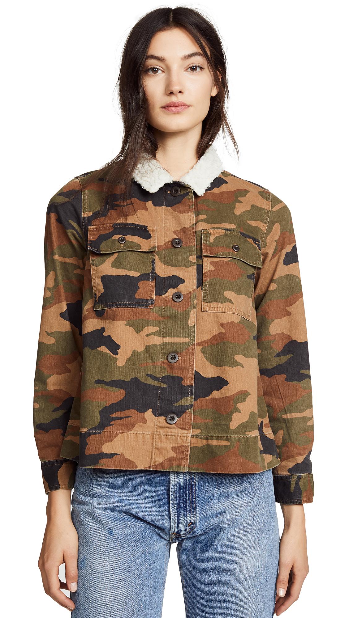 Madewell Northward Camo Army Jacket In Bunny Camo