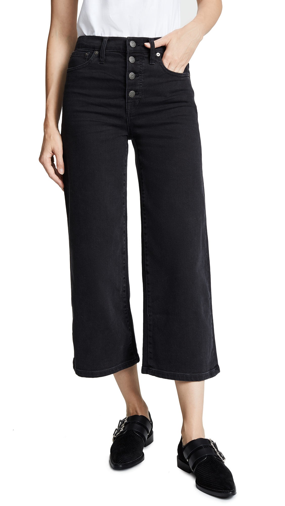 Madewell Wide Leg Crop Jeans In Lunar