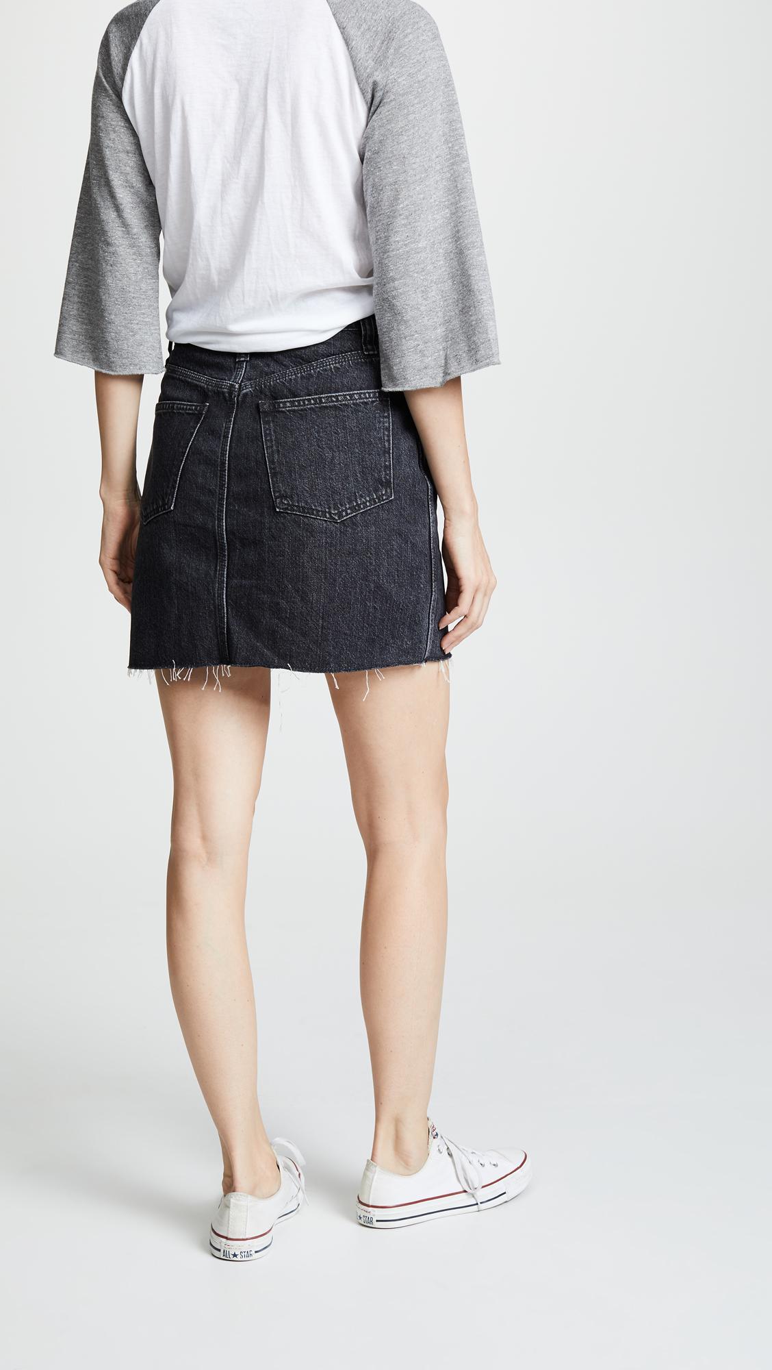 715ffaac7 Madewell Vintage Black Denim Skirt | SHOPBOP