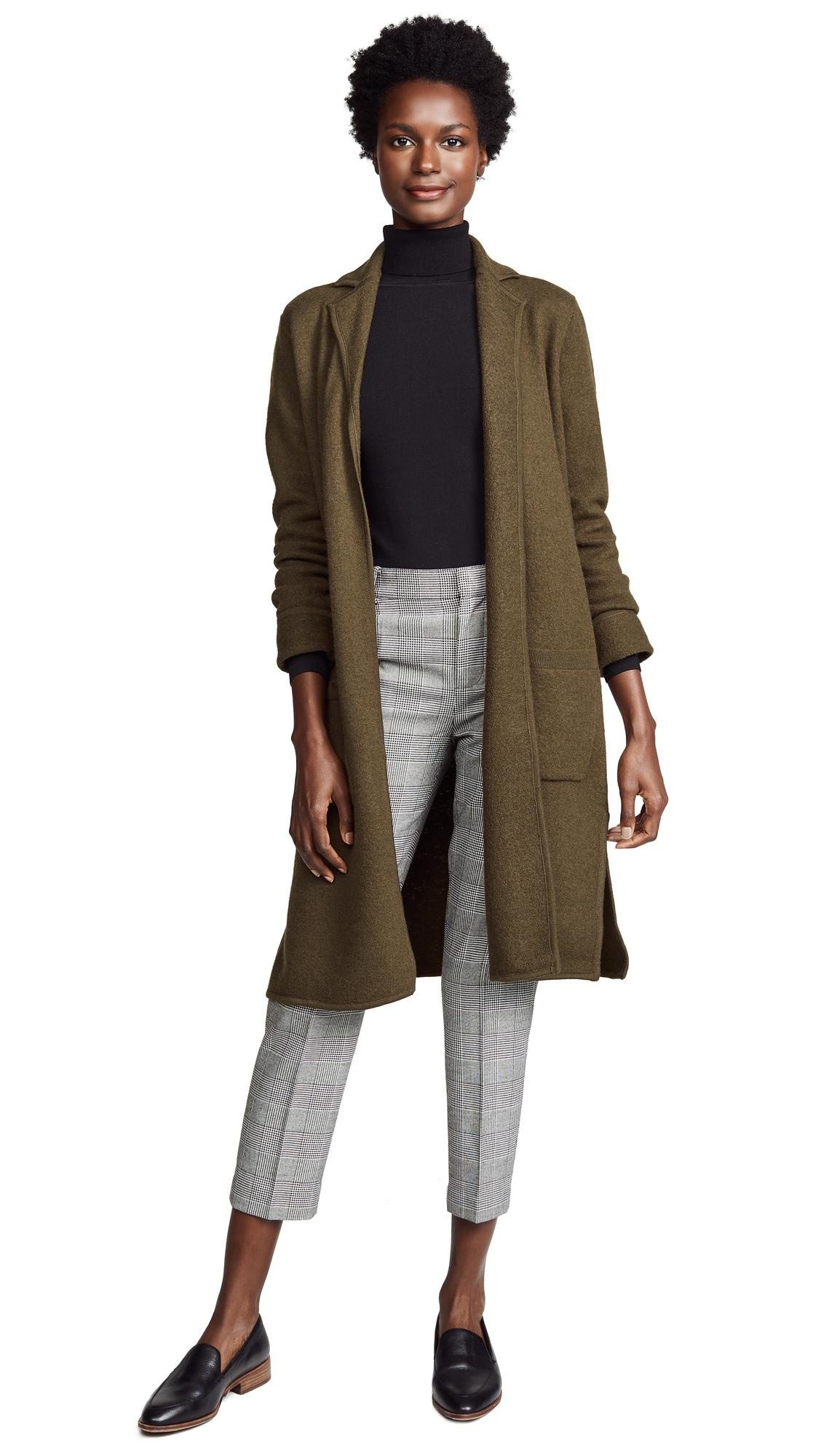 Madewell Camden Sweater Coat - Heather Elm