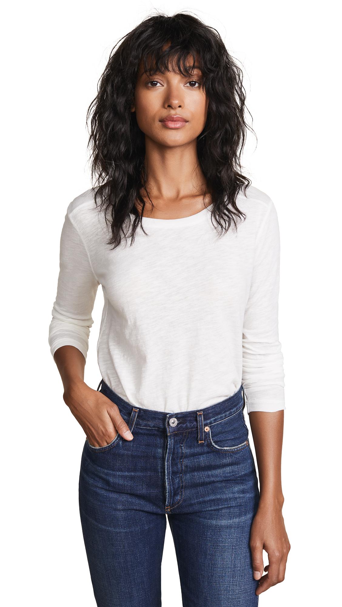 Buy Madewell online - photo of Madewell Whisper Cotton Long Sleeve Tee