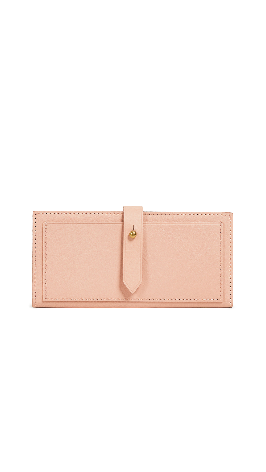 Madewell New Post Wallet In Sheer Pink
