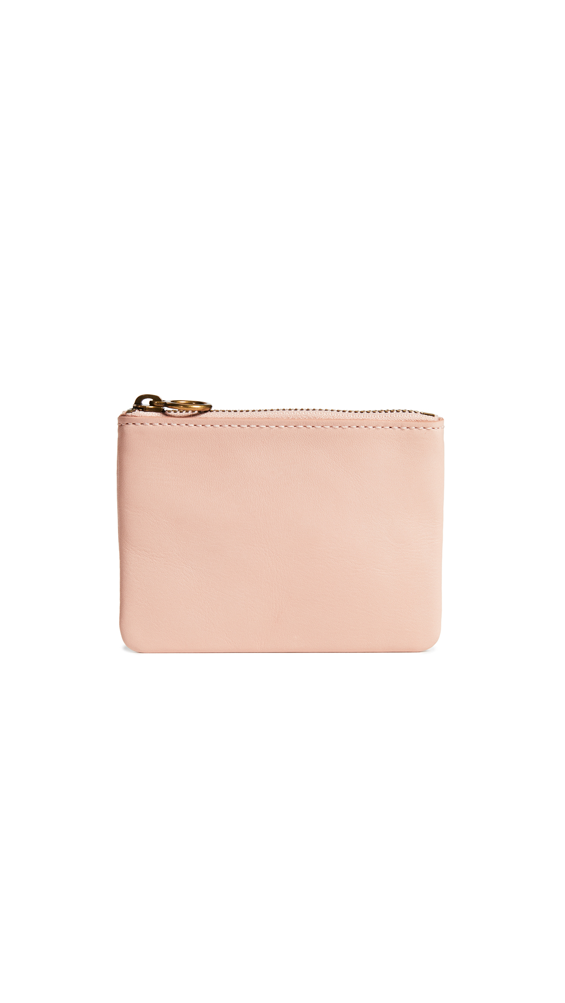 Madewell Leather Pouch Wallet In Sheer Pink