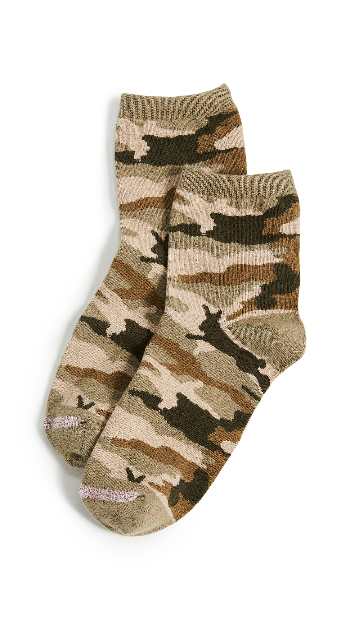 Madewell Camo Bunny Ankle Mid Socks In Camo