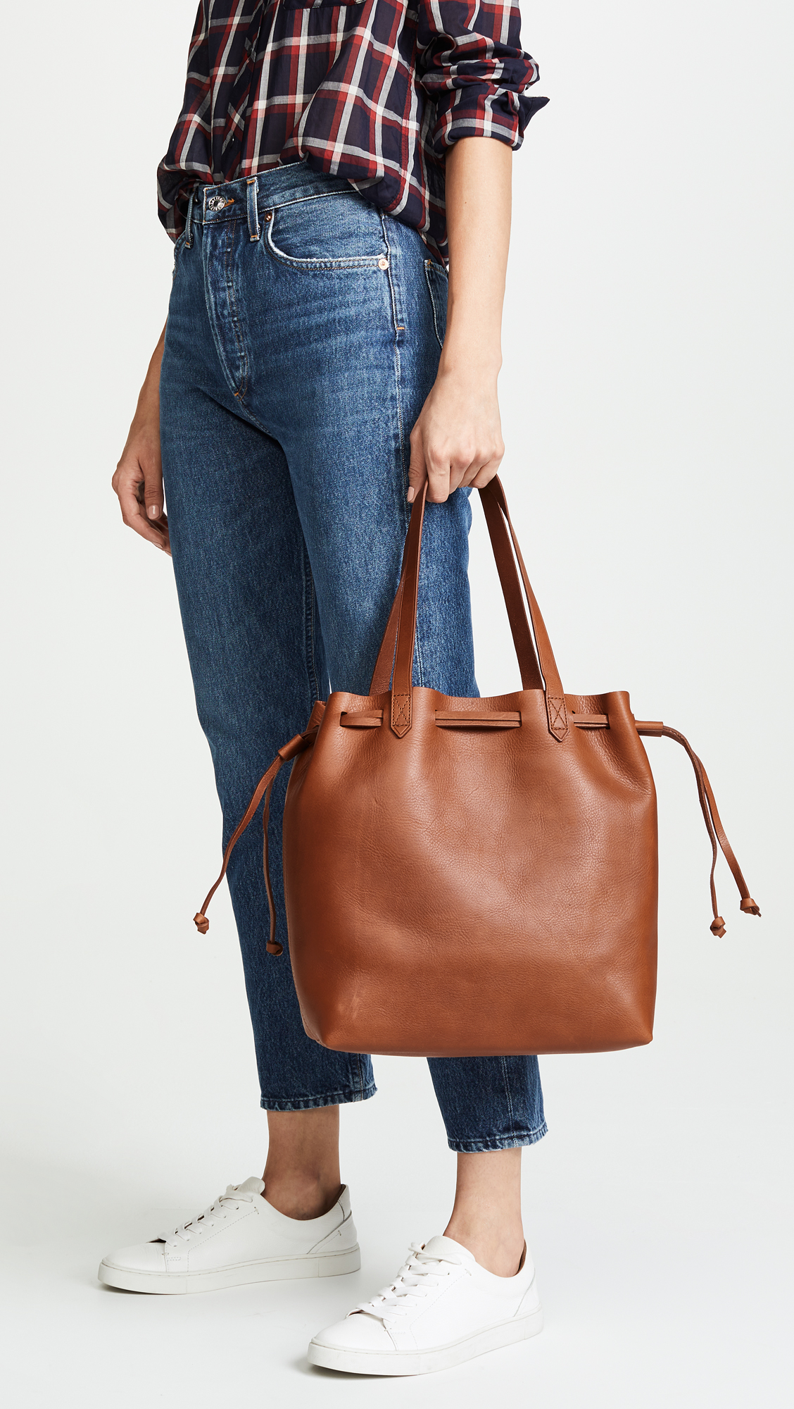 c4439c386f62 Madewell Medium Transport Tote Bag with Drawcord