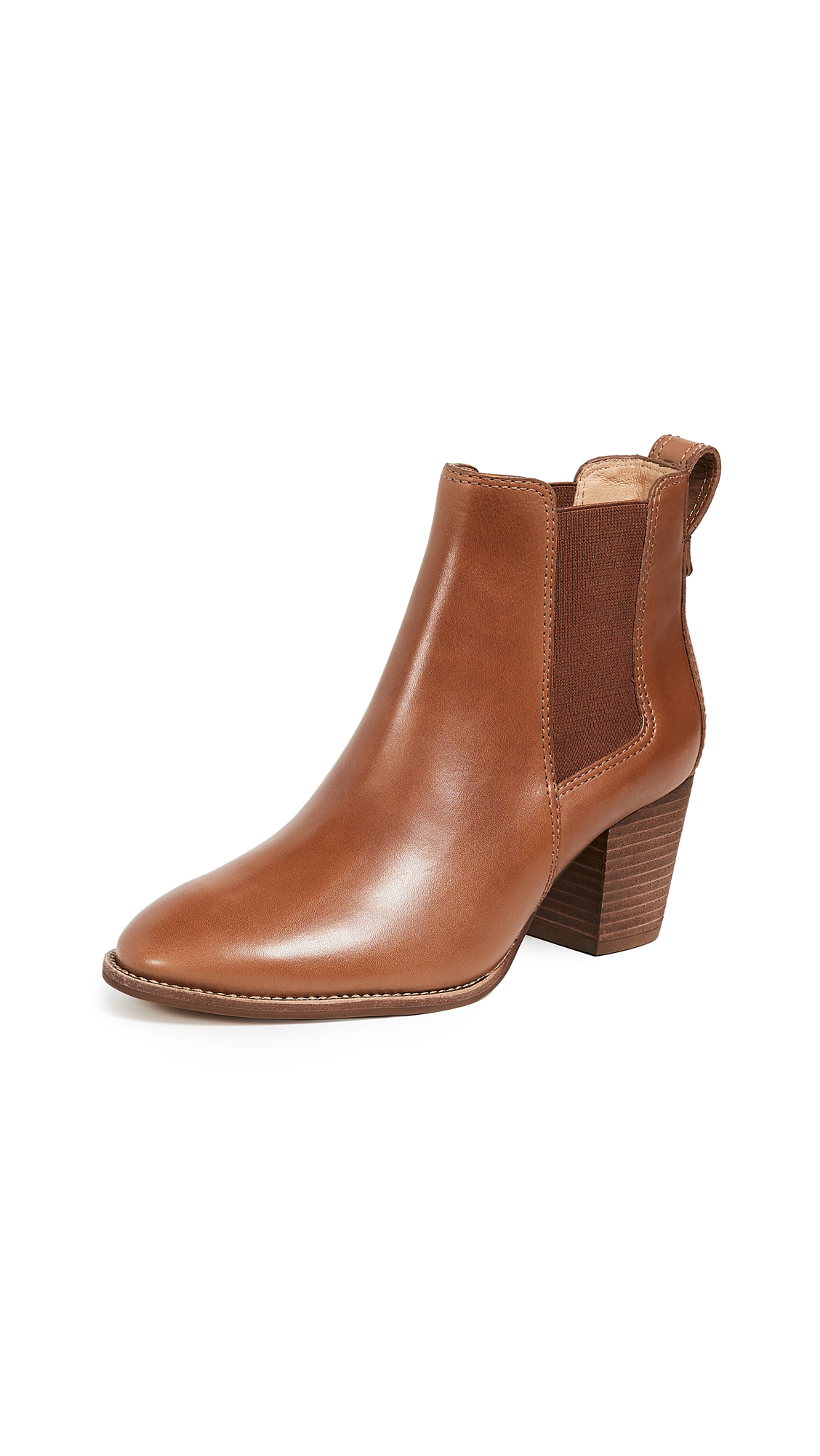 Madewell Heeled Chelsea Boots - English Saddle