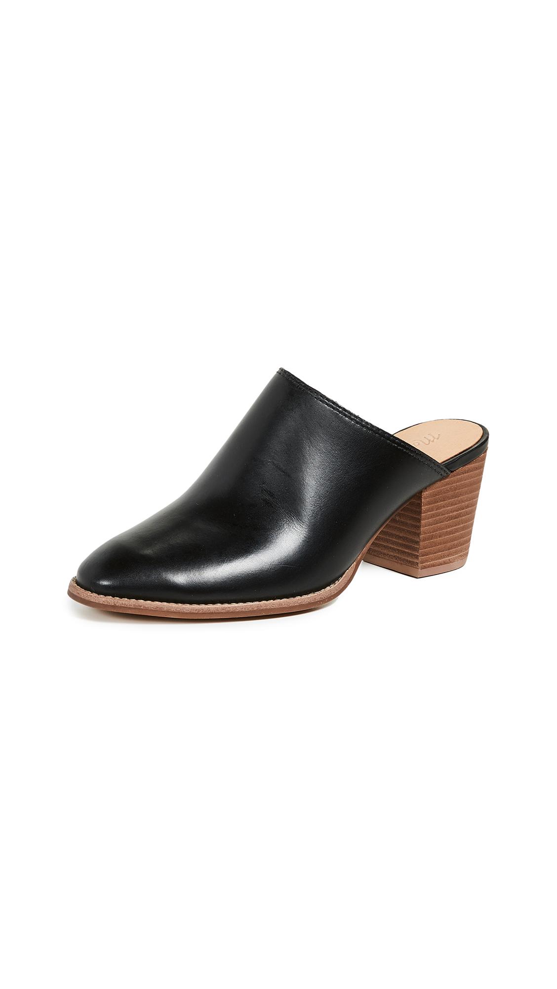 Madewell Harper Block Heel Mules - True Black