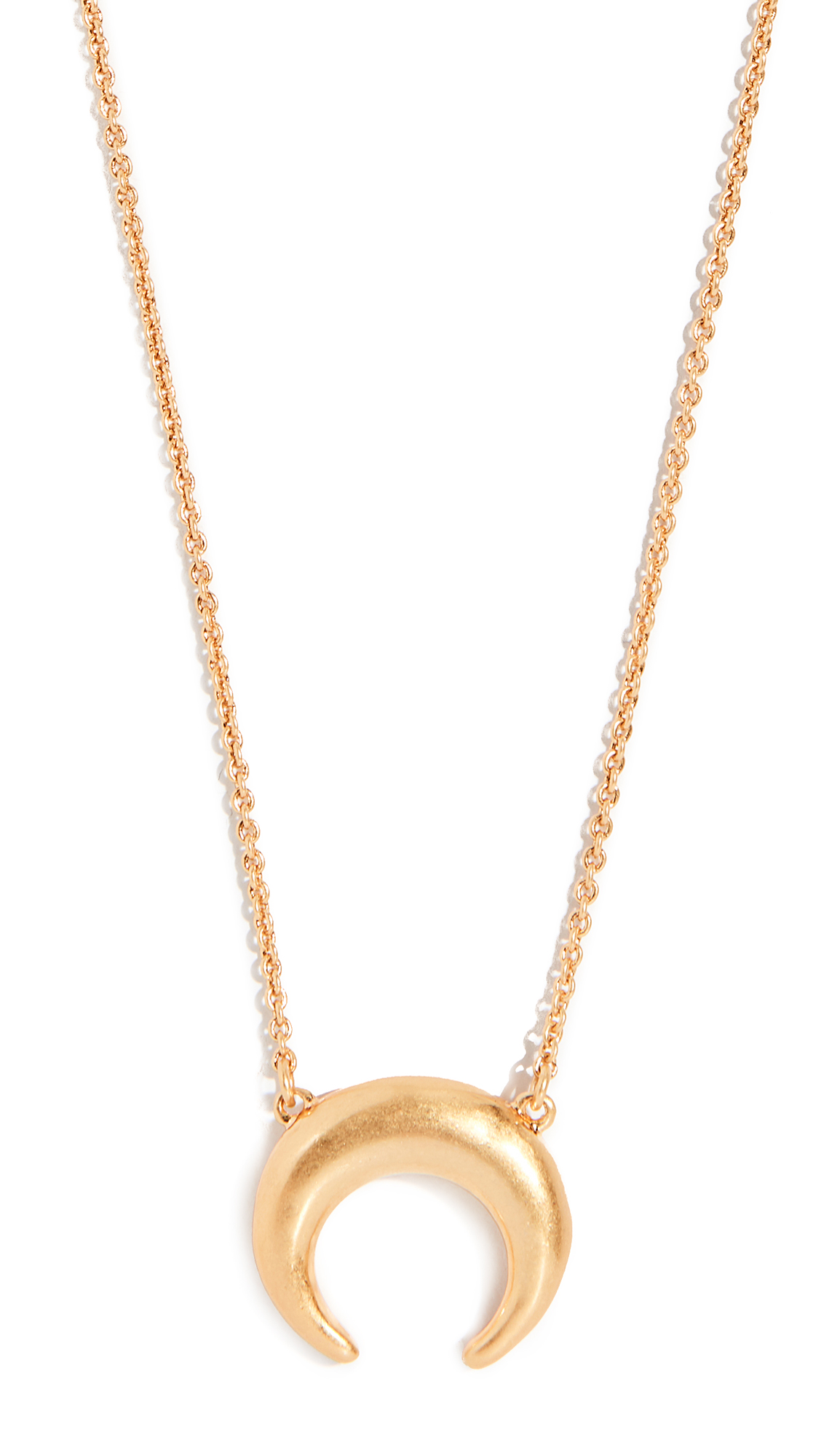 Madewell Crescent Pendant Necklace - Yellow Gold