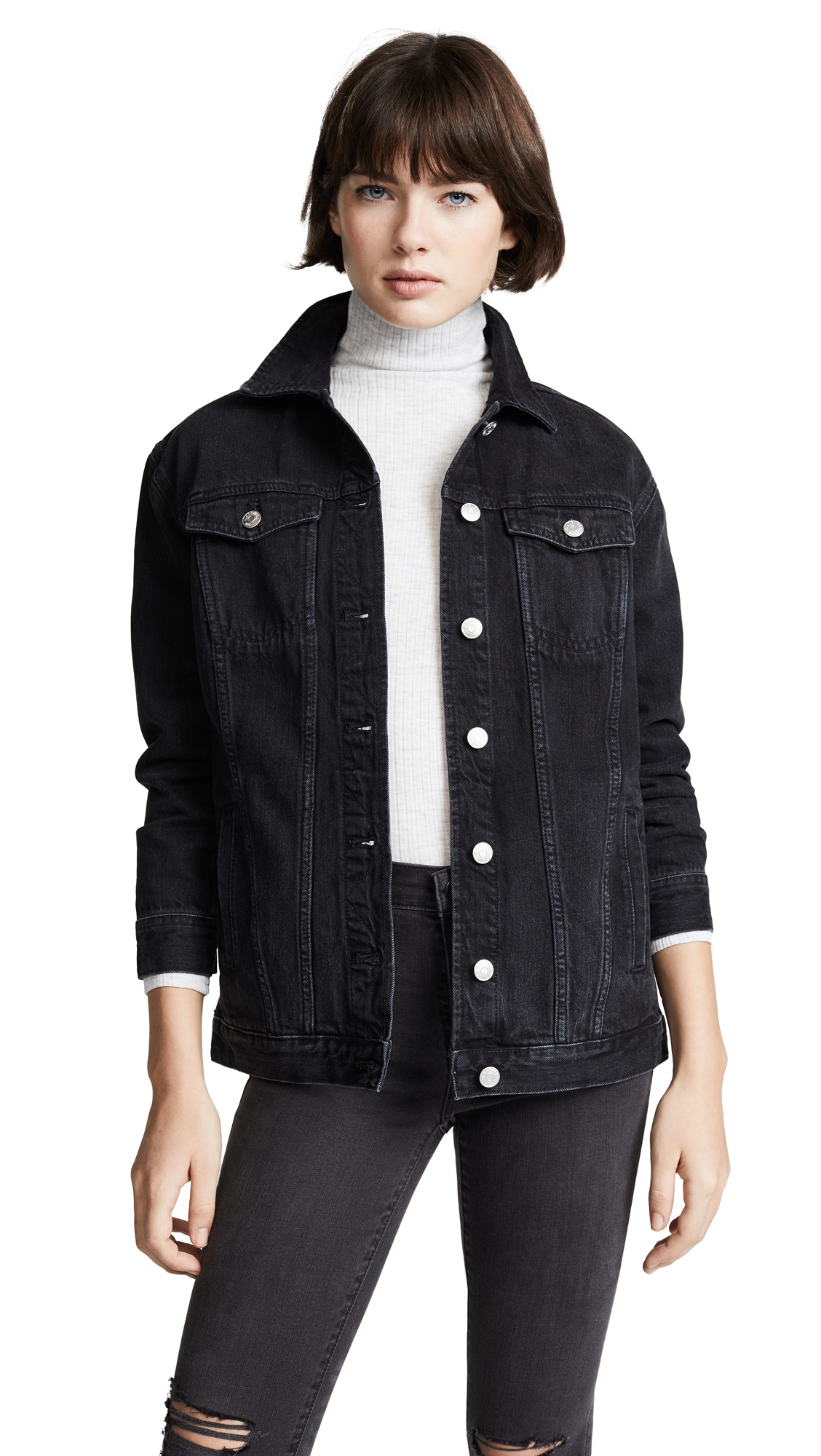 Madewell Oversized Jean Jacket - Lunar Wash