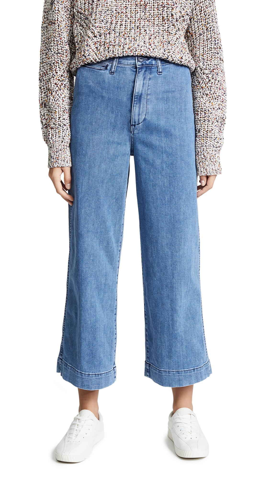 Madewell Emmett Wide Leg Crop Jeans - Rosalie