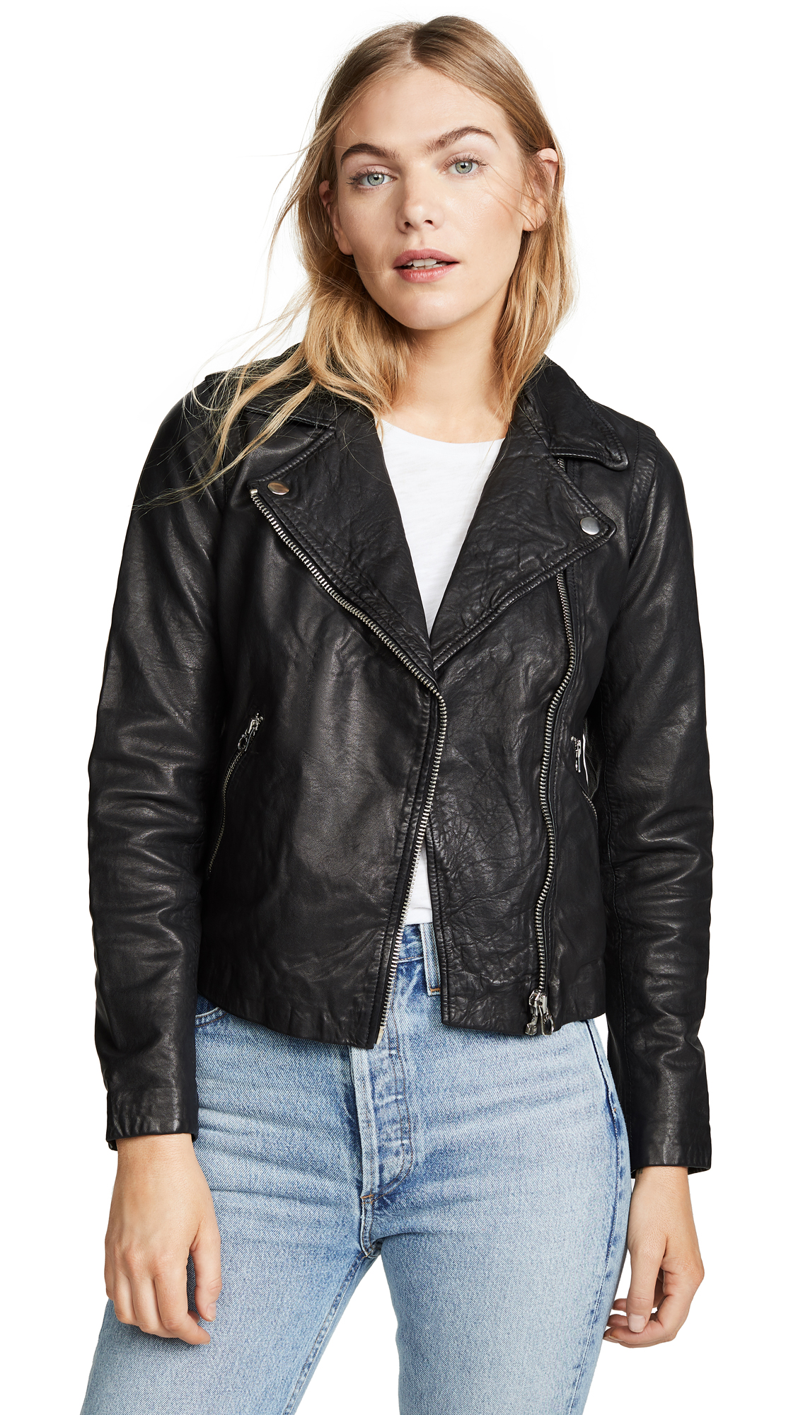 Buy Madewell online - photo of Madewell Washed Leather Motorcycle Jacket
