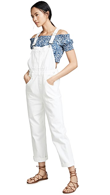 Photo of  Madewell Straight Leg Overalls- shop Madewell Clothing, Jumpsuits online sales