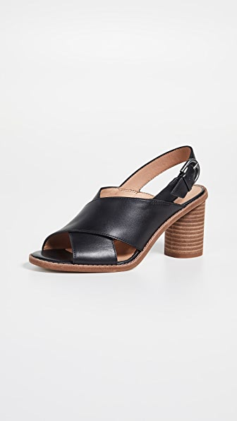 Madewell The Ruthie Crisscross Sandals in Leather