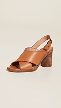 15b02523d4e3 Madewell. The Ruthie Crisscross Sandals in Leather