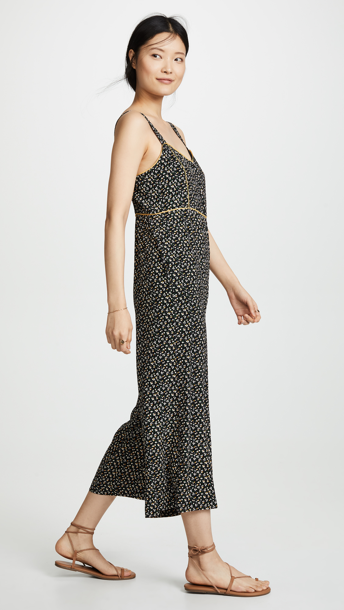 e556f47a85 Madewell Tall Button Front Wide-Leg Jumpsuit in Playground Posies ...