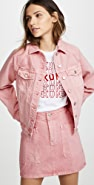 Madewell The Raglan Oversized Jean Jacket in Dusty Rose