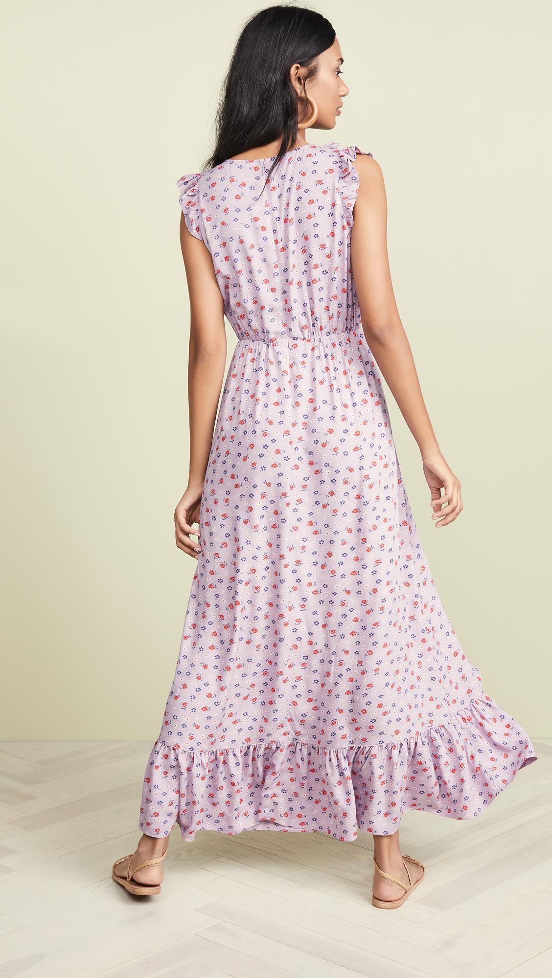 c1ce1ad3de3874 Madewell Ruffle-Edged Wrap Maxi Dress in Prairie Posies | SHOPBOP