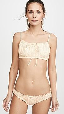 9422426e24 Madewell. Second Wave Ruffled Drawstring Bikini Top