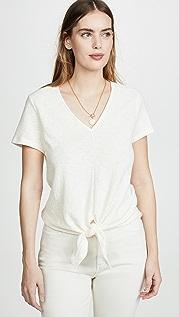 Madewell Современная футболка с завязками спереди и V-образным вырезом