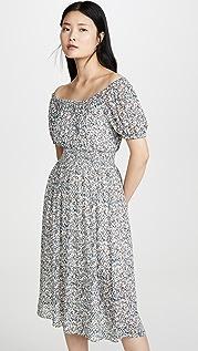 Madewell Платье со сборками на талии