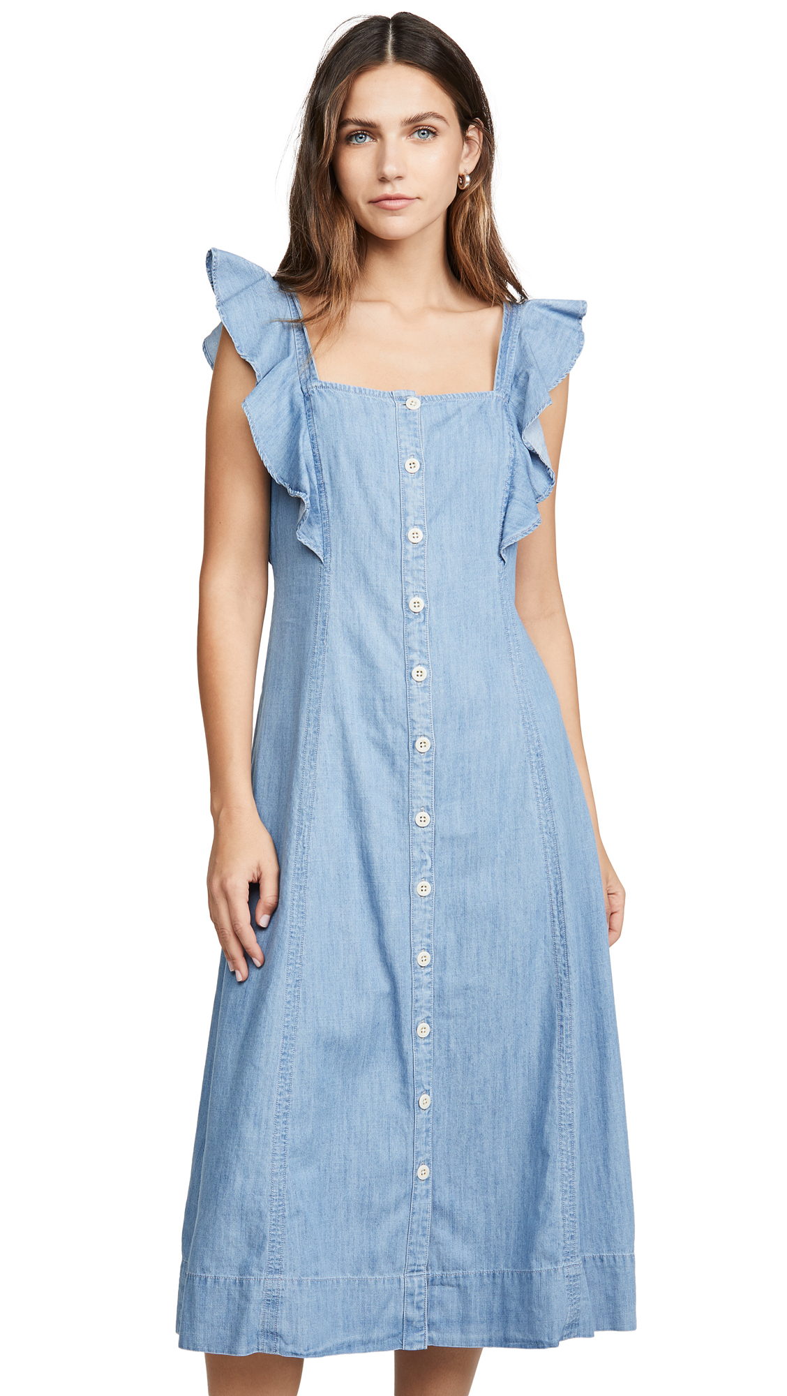 Buy Madewell Denim Button Front Midi Dress online beautiful Madewell Clothing, Dresses