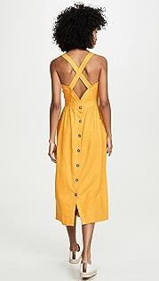 Madewell 成衣染色围裙式中长连衣裙