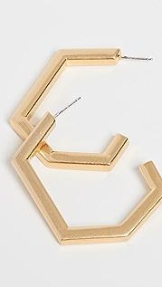 Madewell 几何金属圈式耳环