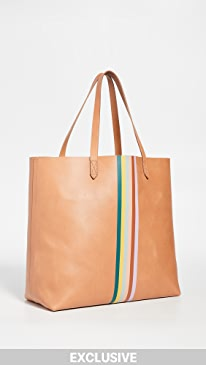 3d655ba5efbb4e Madewell. Classic Transport Tote with Rainbow Stripe
