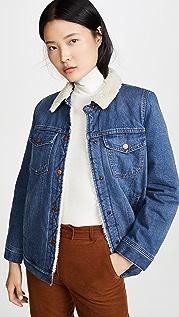 Madewell Джинсовый пиджак на подкладке из искусственного меха