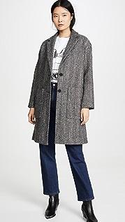 Madewell Elmcourt Coat in Flecked Herringbone