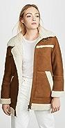 Madewell Shearling Moto Jacket