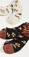 Madewell 豹纹花卉船袜