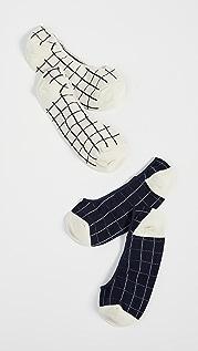 Madewell 窗格船袜