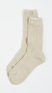 Madewell Ribbed Cuff Metallic Ankle Mid Socks