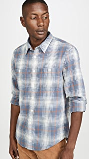 Madewell Ombre Plaid Flannel Shirt