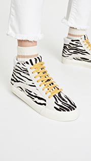 Madewell Sidewalk High Top Zebra Sneakers