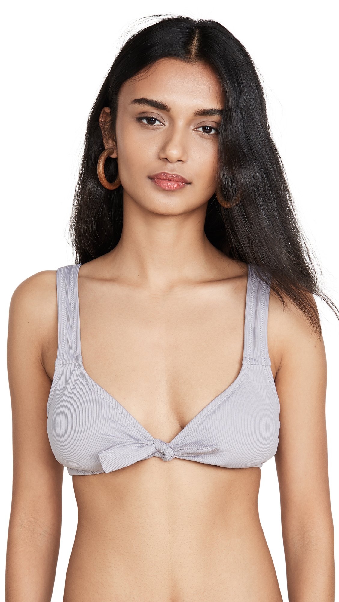 Buy Madewell online - photo of Madewell Second Wave Ribbed Tie Front Bikini Top