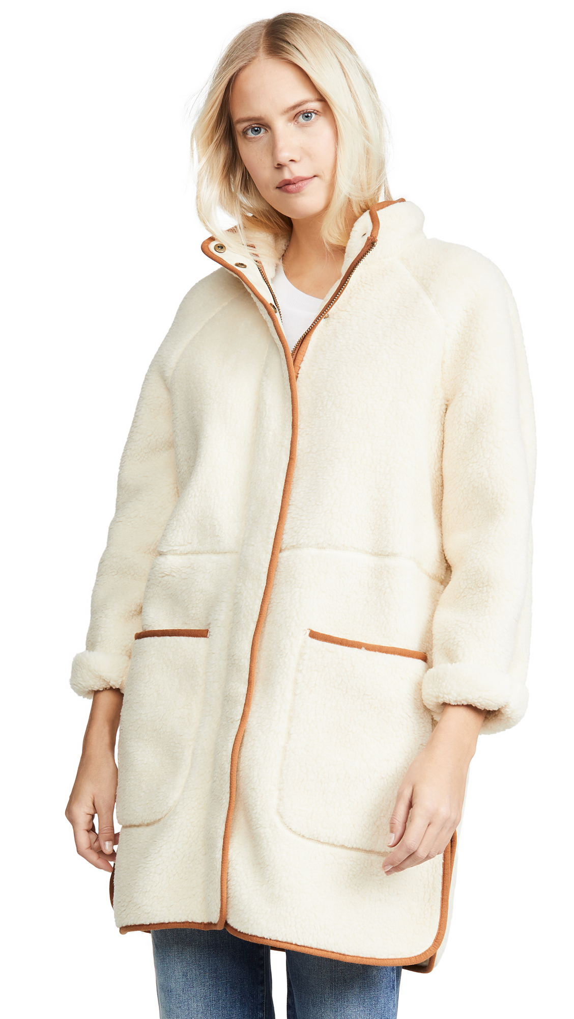 Buy Madewell Sherpa Piped Coat online beautiful Madewell Clothing, Jackets