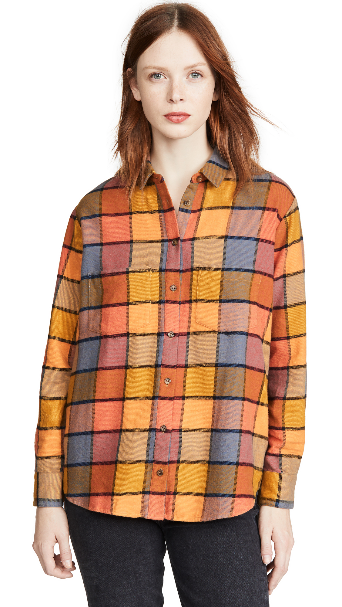 Buy Madewell online - photo of Madewell Flannel Sunday Shirt in Emmy Plaid