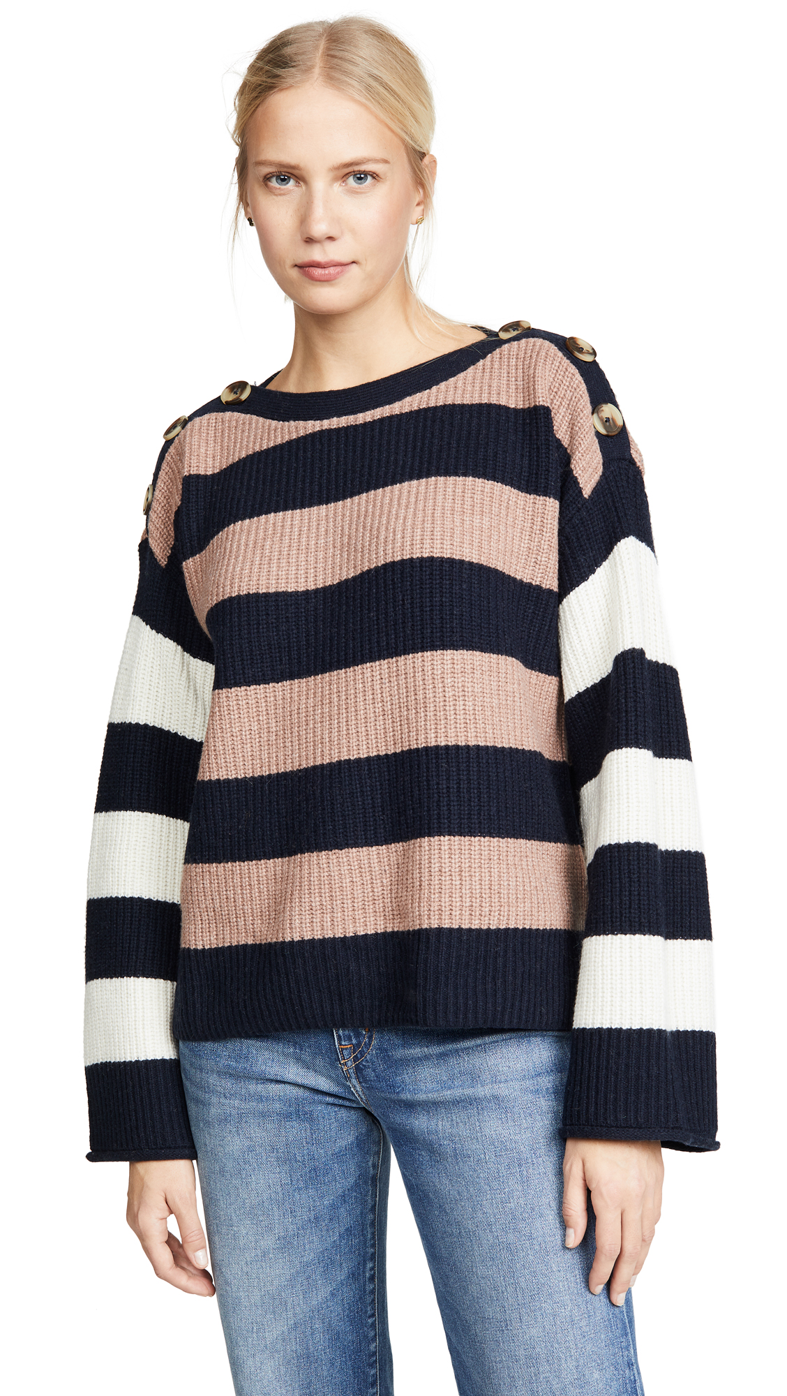 Buy Madewell online - photo of Madewell Dana Boatneck Stripe Mix Sweater