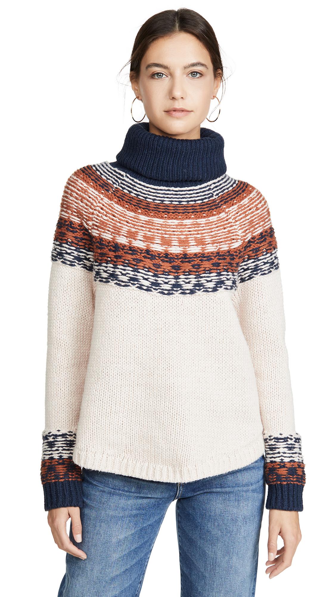 Buy Madewell online - photo of Madewell Brookdale Fair Isle Turtleneck Sweater