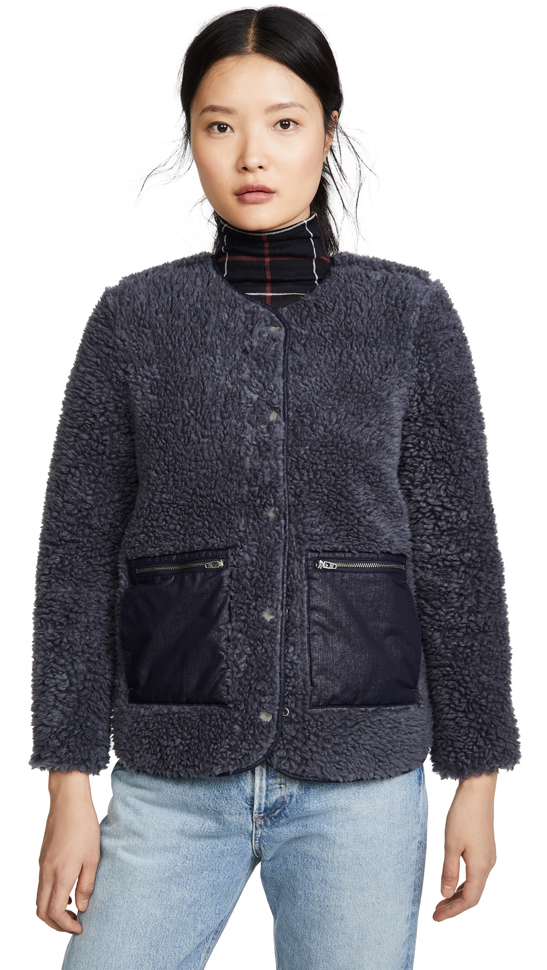 Buy Madewell online - photo of Madewell Blue Sherpa Jacket