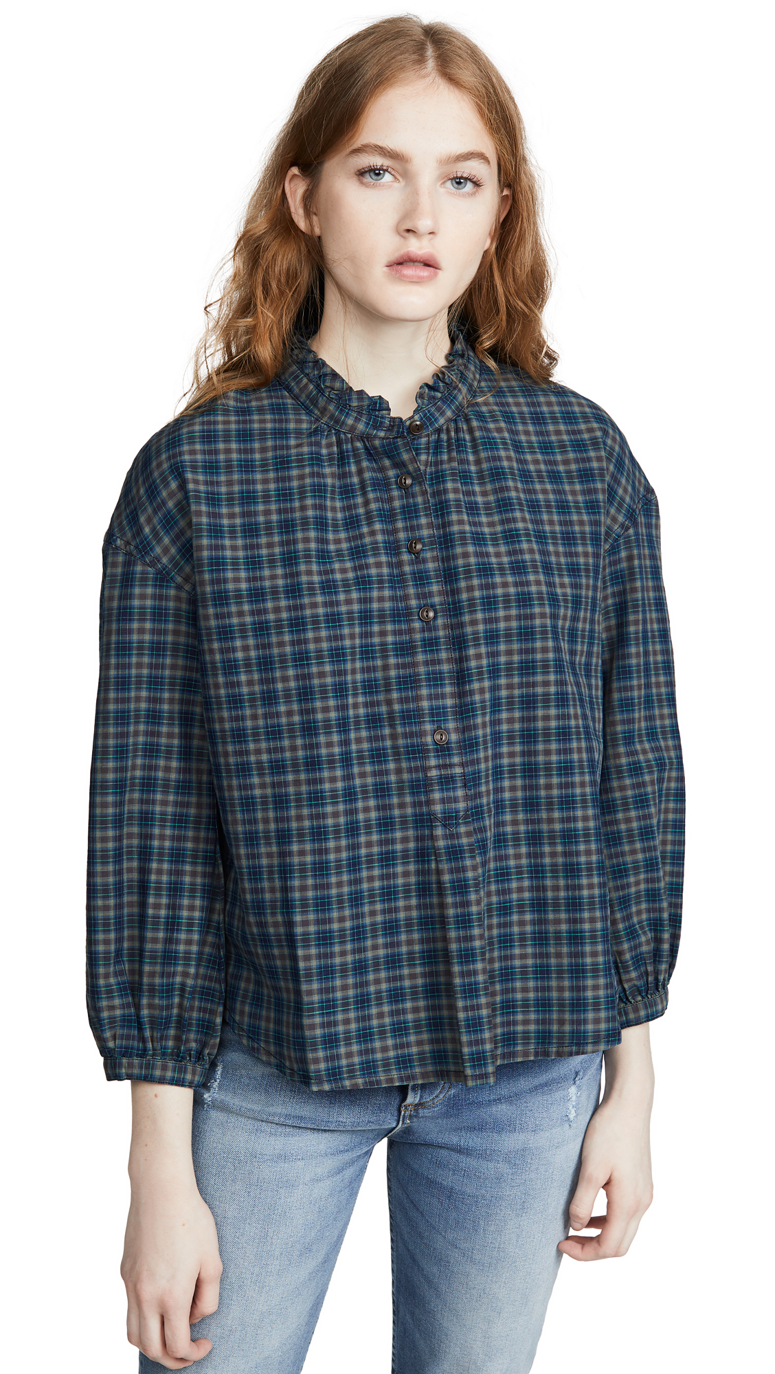 Buy Madewell online - photo of Madewell Ruffle Popover Button Down