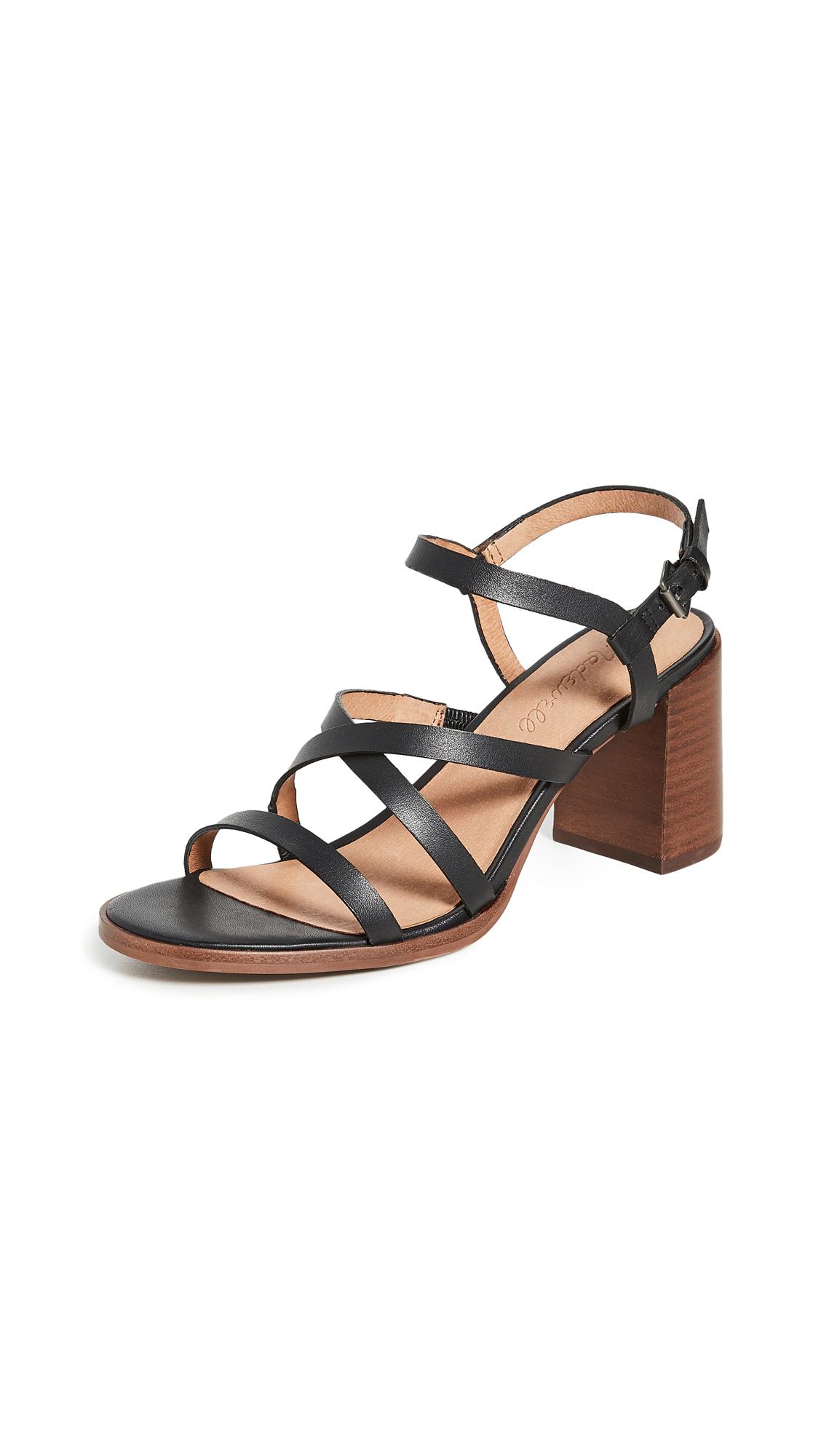 Madewell Sabine Skinny Strap Heeled Sandals - 50% Off Sale