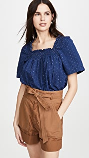 Madewell Square Neck Smock Top