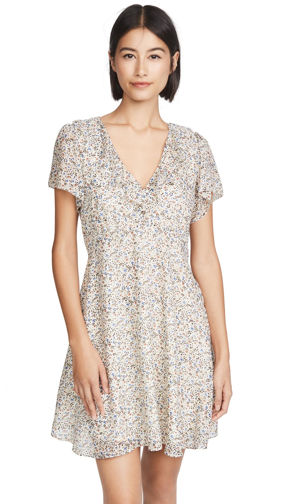 Madewell Ruffle V Neck Mini Dress - 30% Off Sale