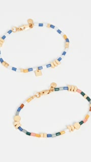 Madewell 2 Piece Beaded Stretch Bracelet Set