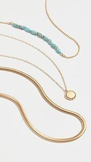 Madewell Westward Concho Y Necklace with Herringbone Chain