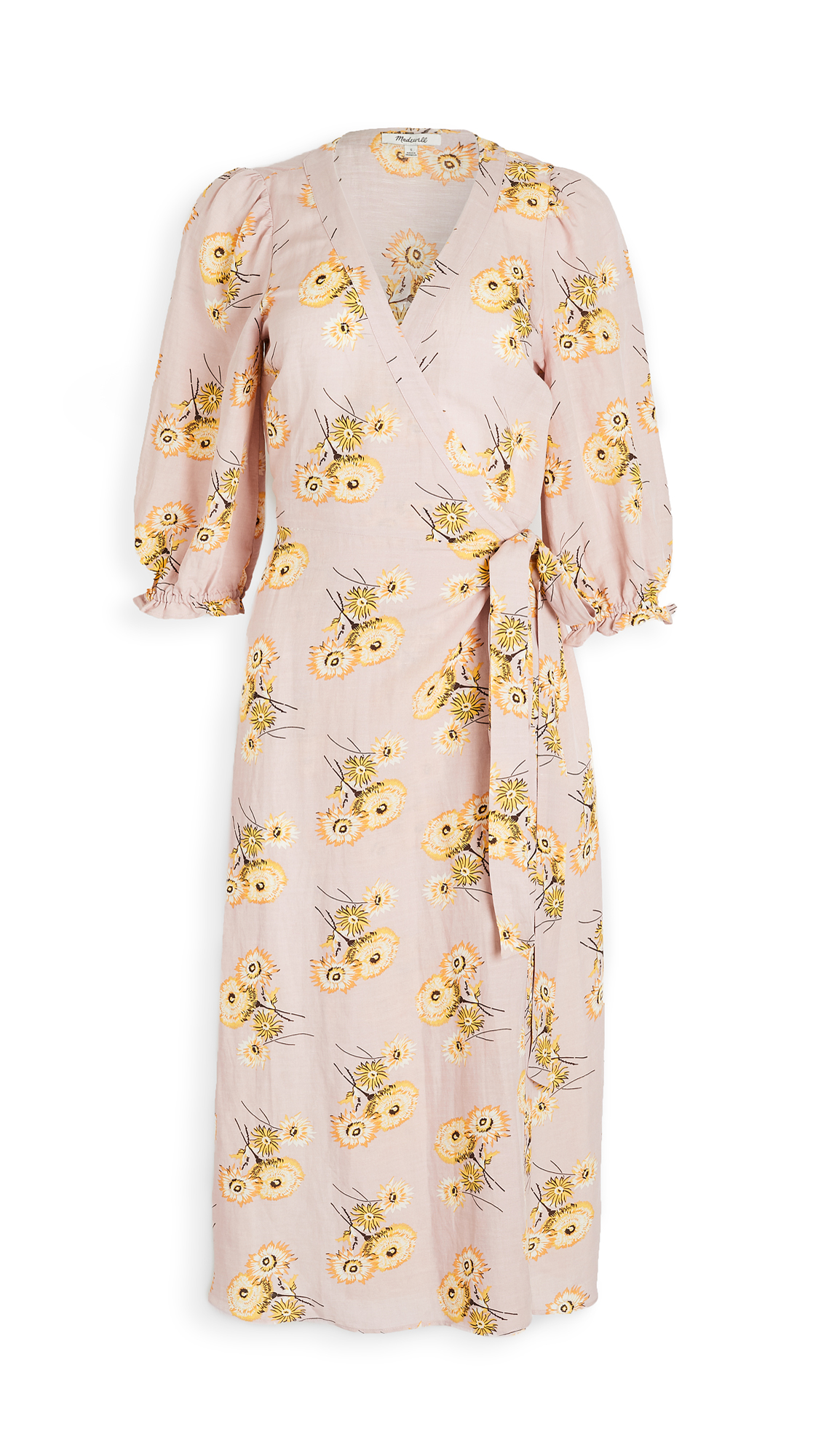 Madewell Floral Wrap Dress