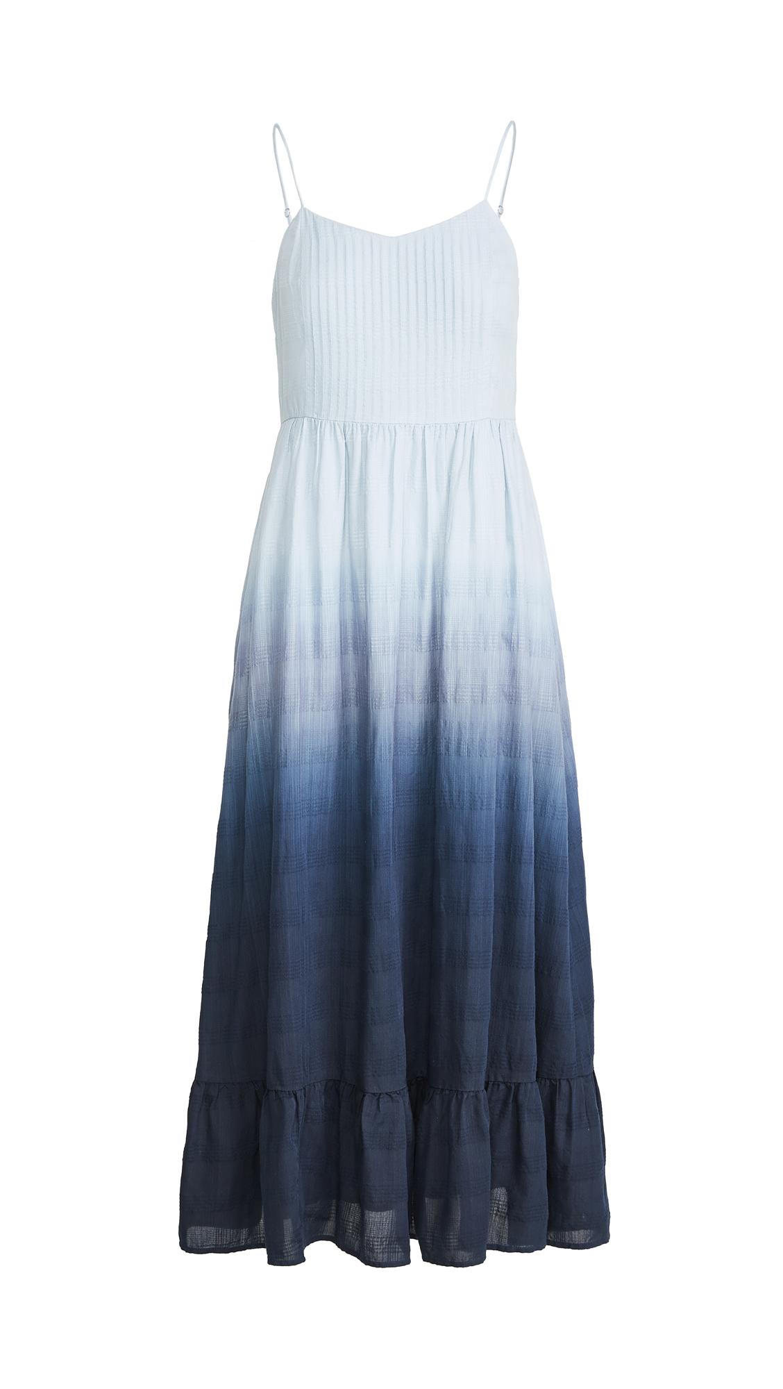 Madewell Cami Pintuck Midi Dress